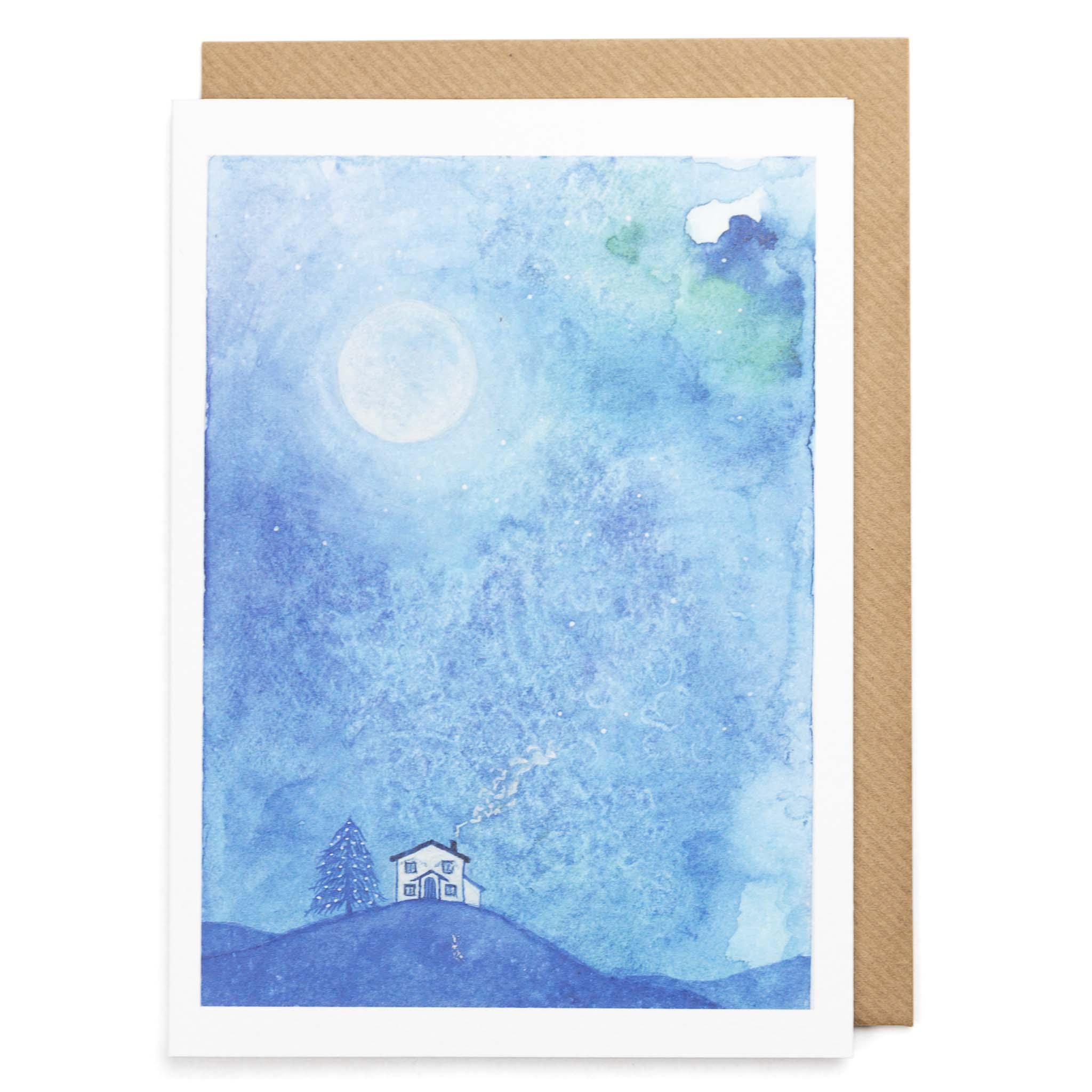 Starry Night Greeting Card Indi Skoven