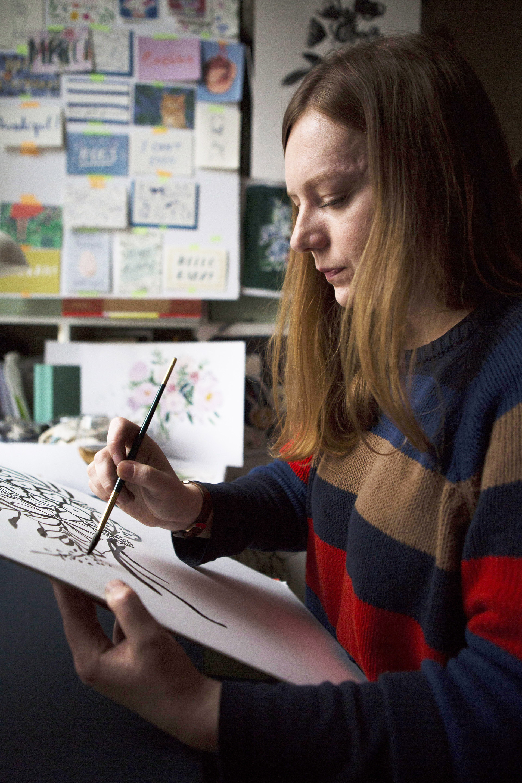 illustration illustrator peggy kate watercolour print design indi skoven