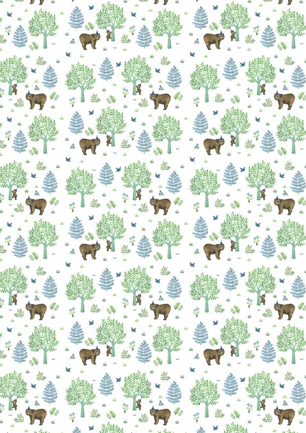 giftwrap wrapping paper childrens bears