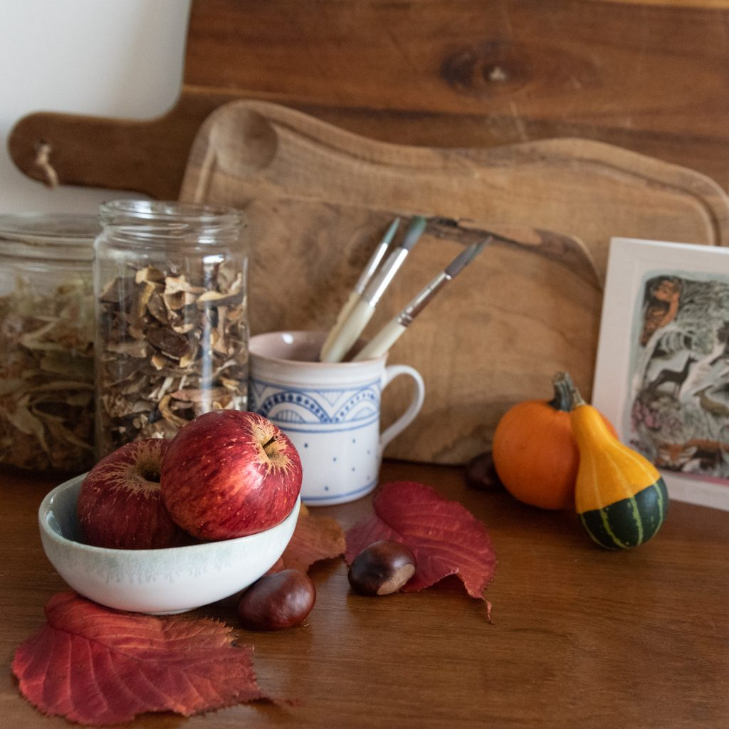 olive wood product photography brand styling autumn