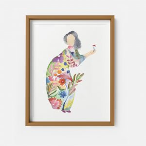 autumn lady giclee print