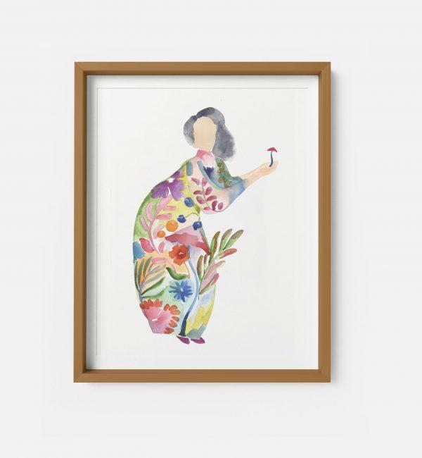 autumn lady giclee print