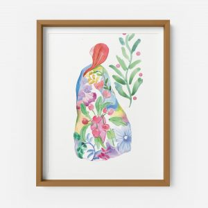 spring lady giclee print