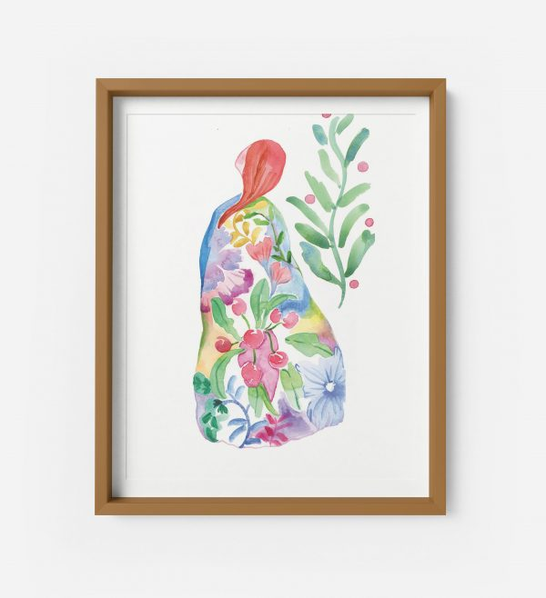 spring lady giclee print