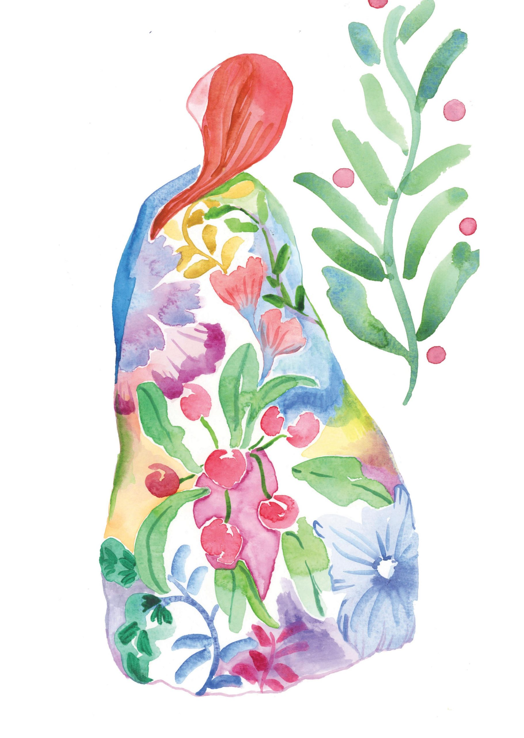 spring watercolour floral botanical nature print