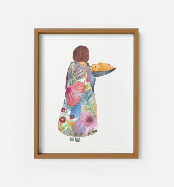 summer lady giclee print