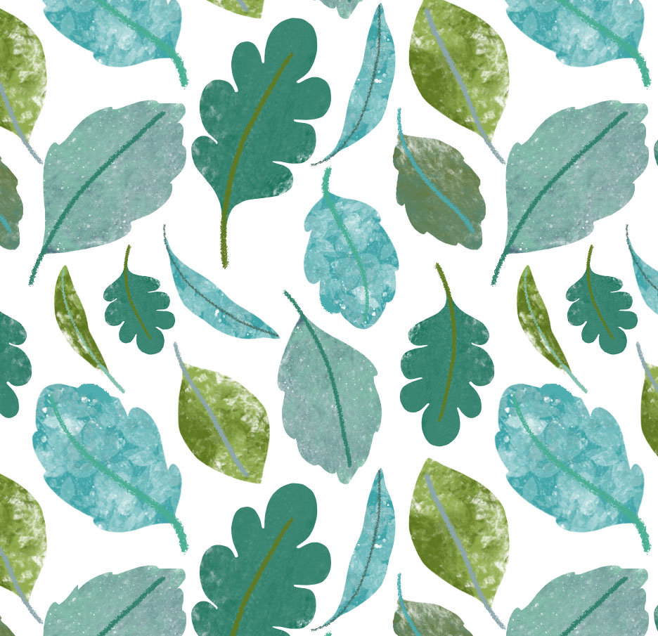 green leaves print nature wallpaper wrapping paper