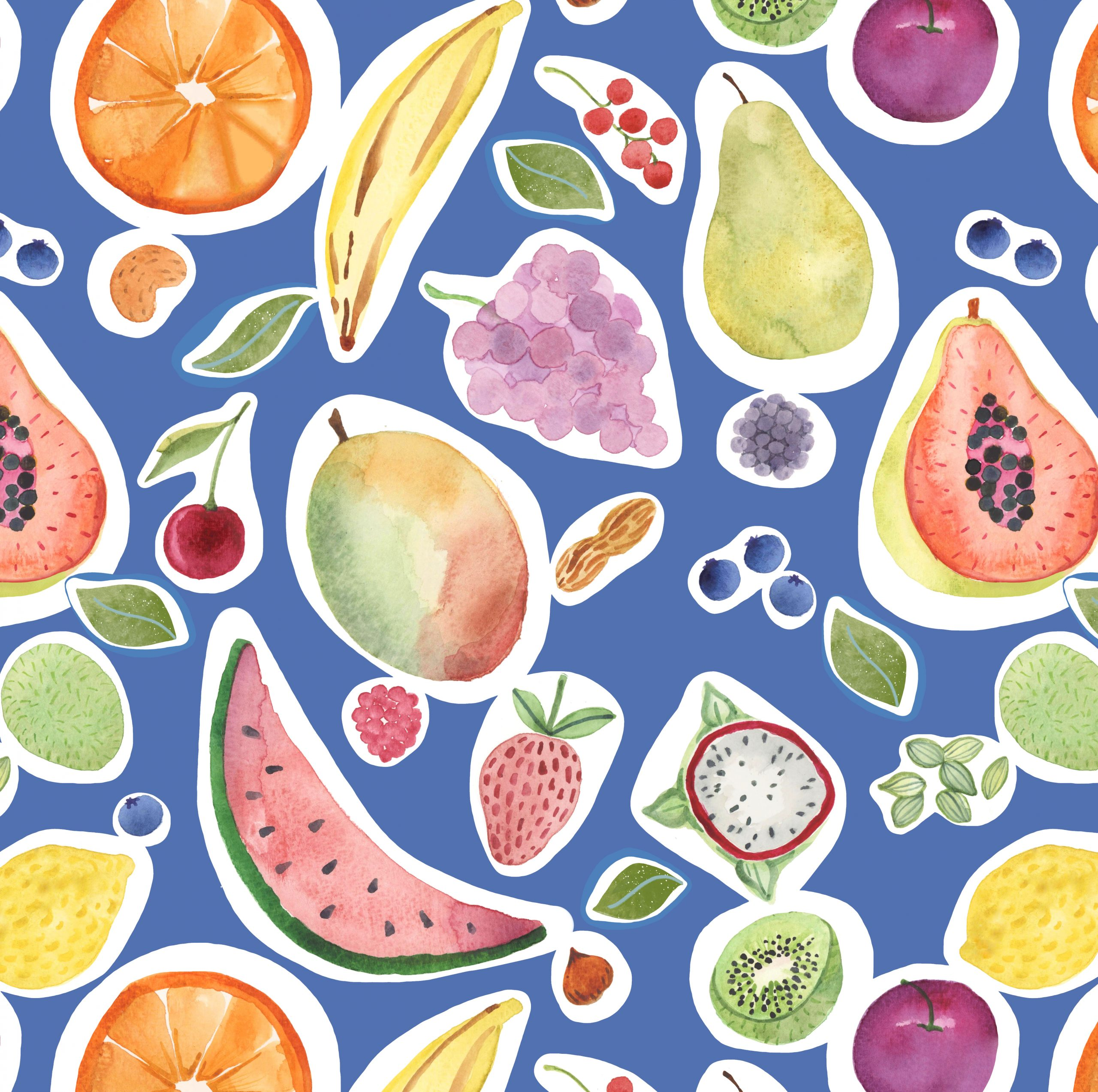 fruit print pattern