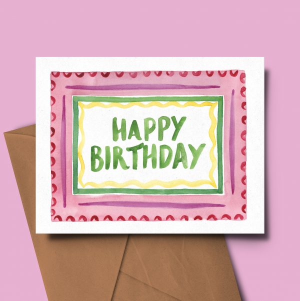 birthday card colourful