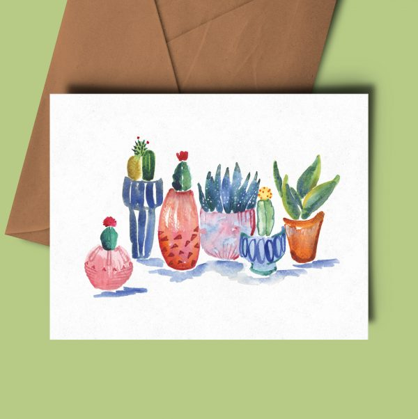 greeting card houseplants cactus succulent