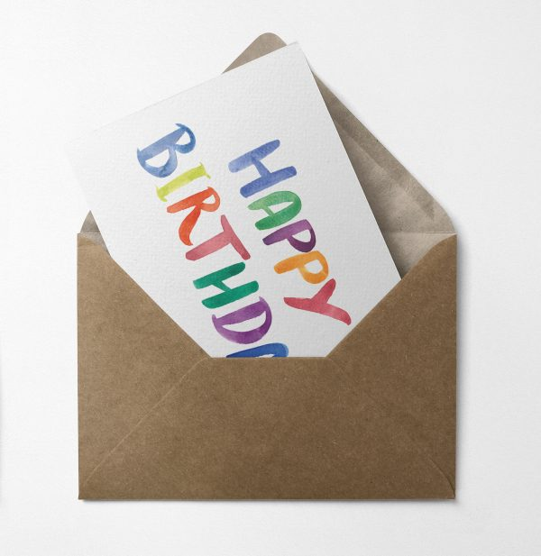 birthday card rainbow