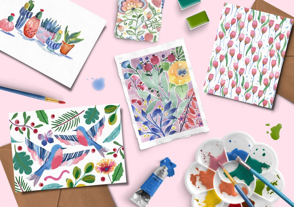 stationery artist notebooks greeting card wrapping papers