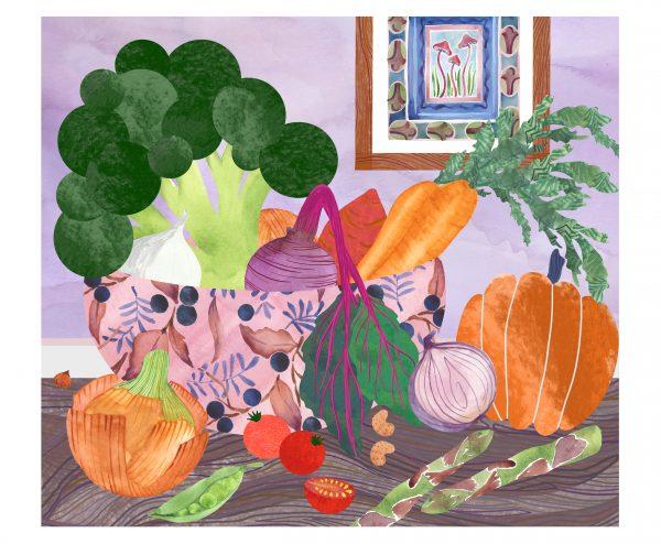 vegetable bowl print