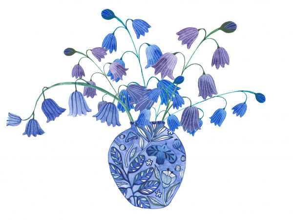 bluebells floral print