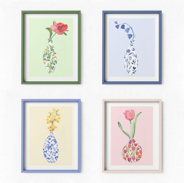 floral vase art prints