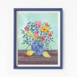 floral print giclee