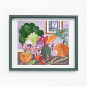 vegetable bowl print