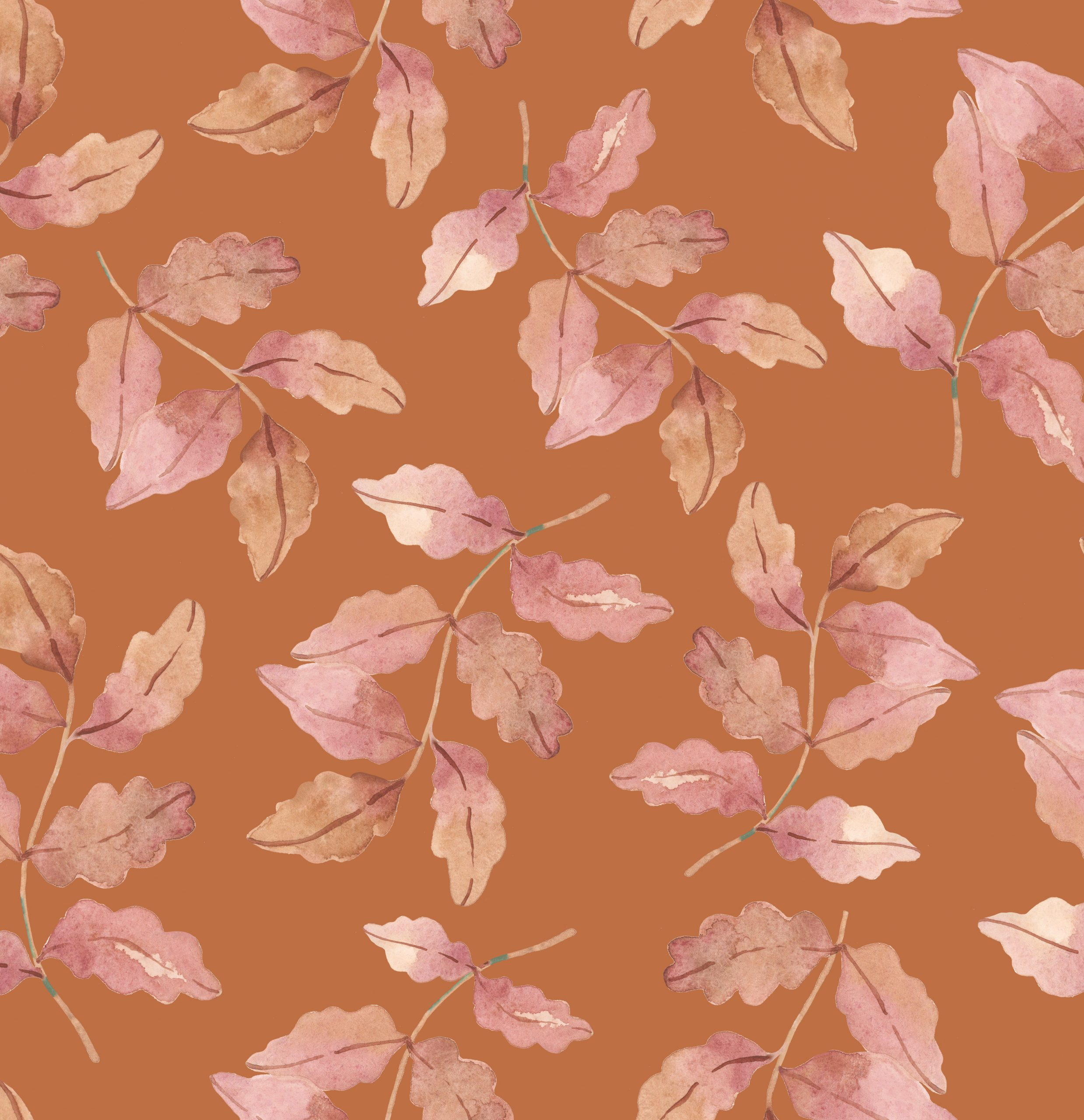 autumn leaves fabric wallpaper print luxury interior design