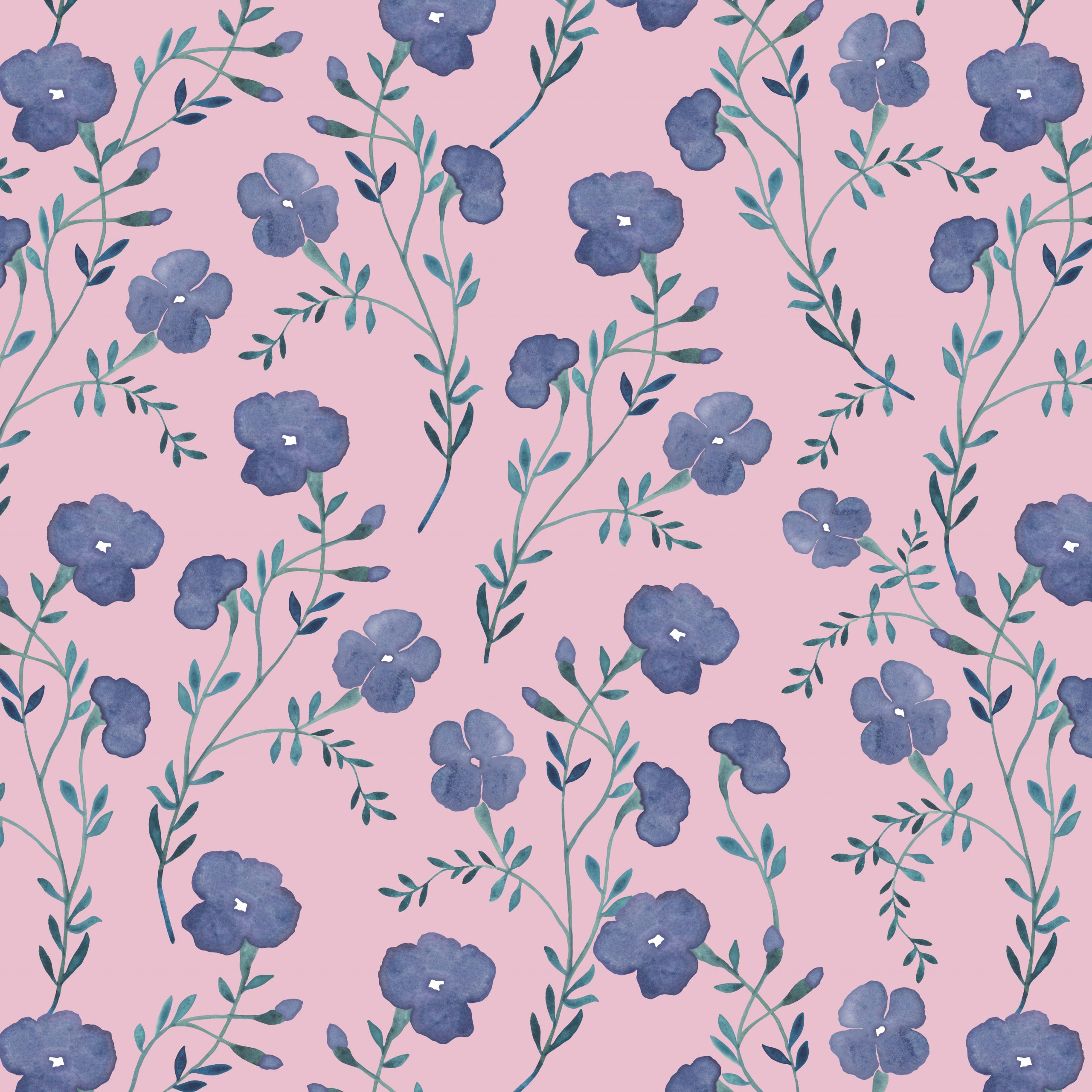 blue floral wallpaper fabric floral
