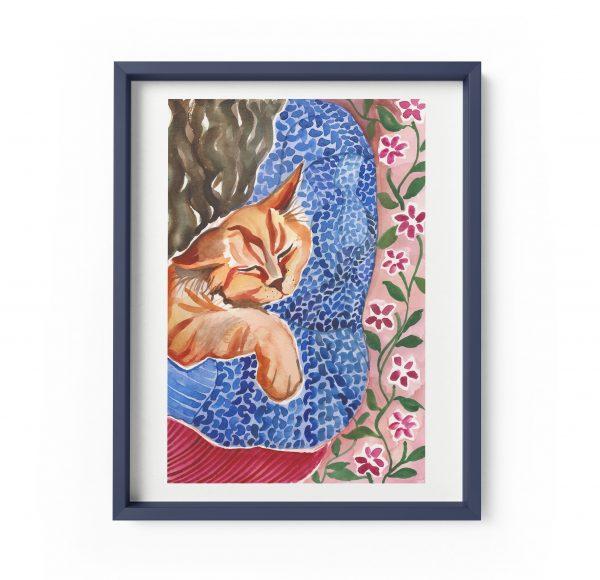 ginger tomcat cat illustration