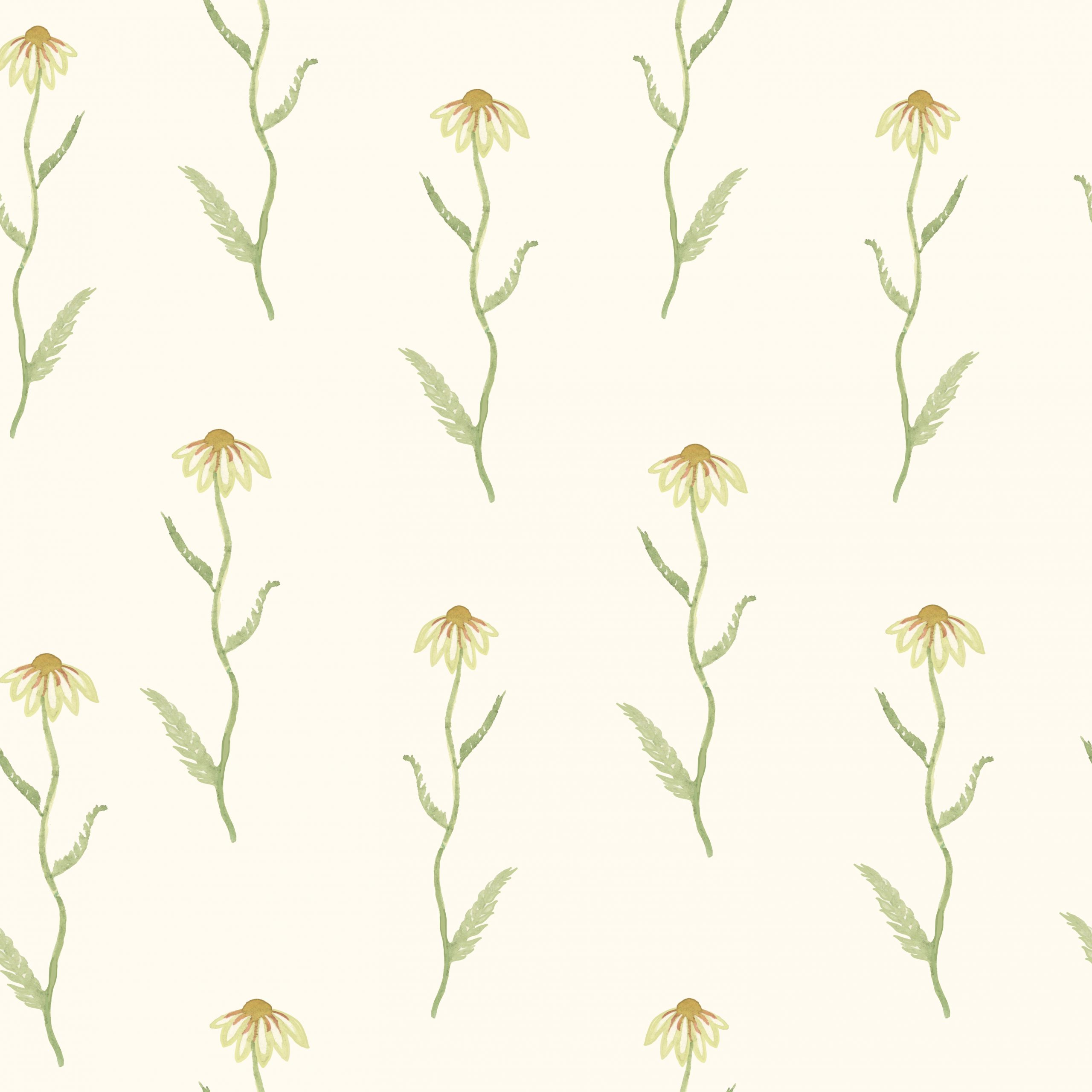 daisy daisies wallpaper fabric