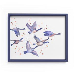 wild geese illustration