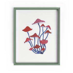 mushroom illustration print