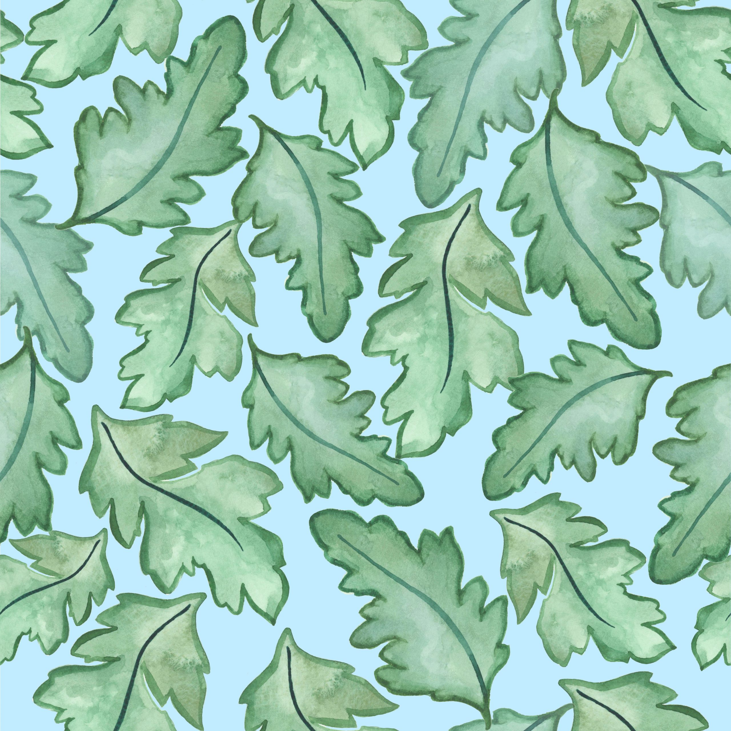 oak leaves william morris ben pentreath wallpaper