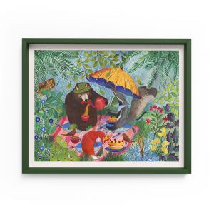 children illustrations tea party animals